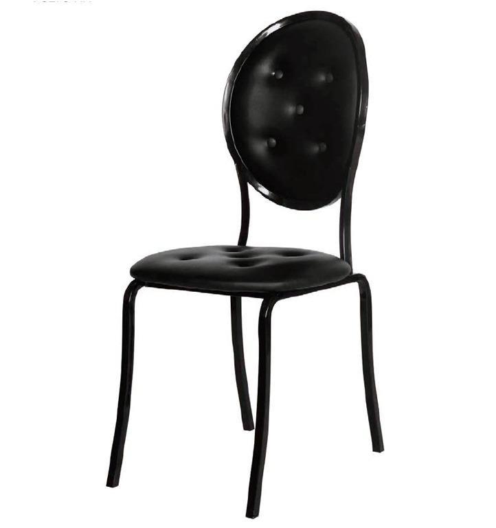 Foto silla met lica c capiton negra lipe 124962 foto 380163 for Sillas capitone modernas